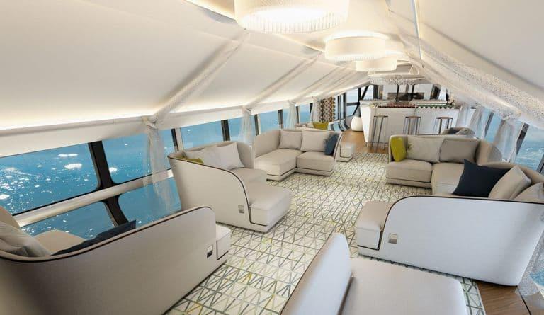 Дизайн салона самолета